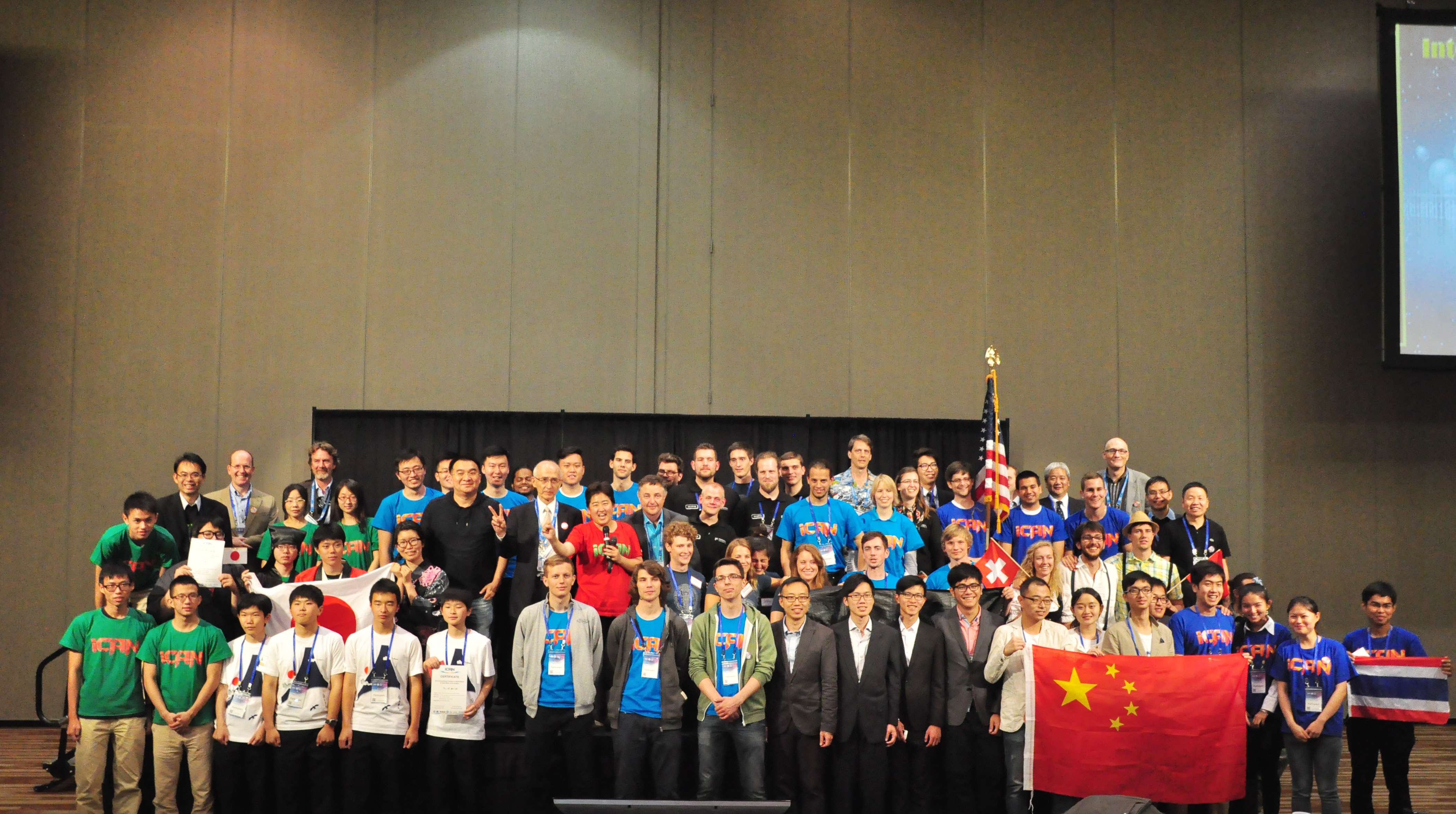 The iCAN contingent, representing 20 countries at the World Finals.
